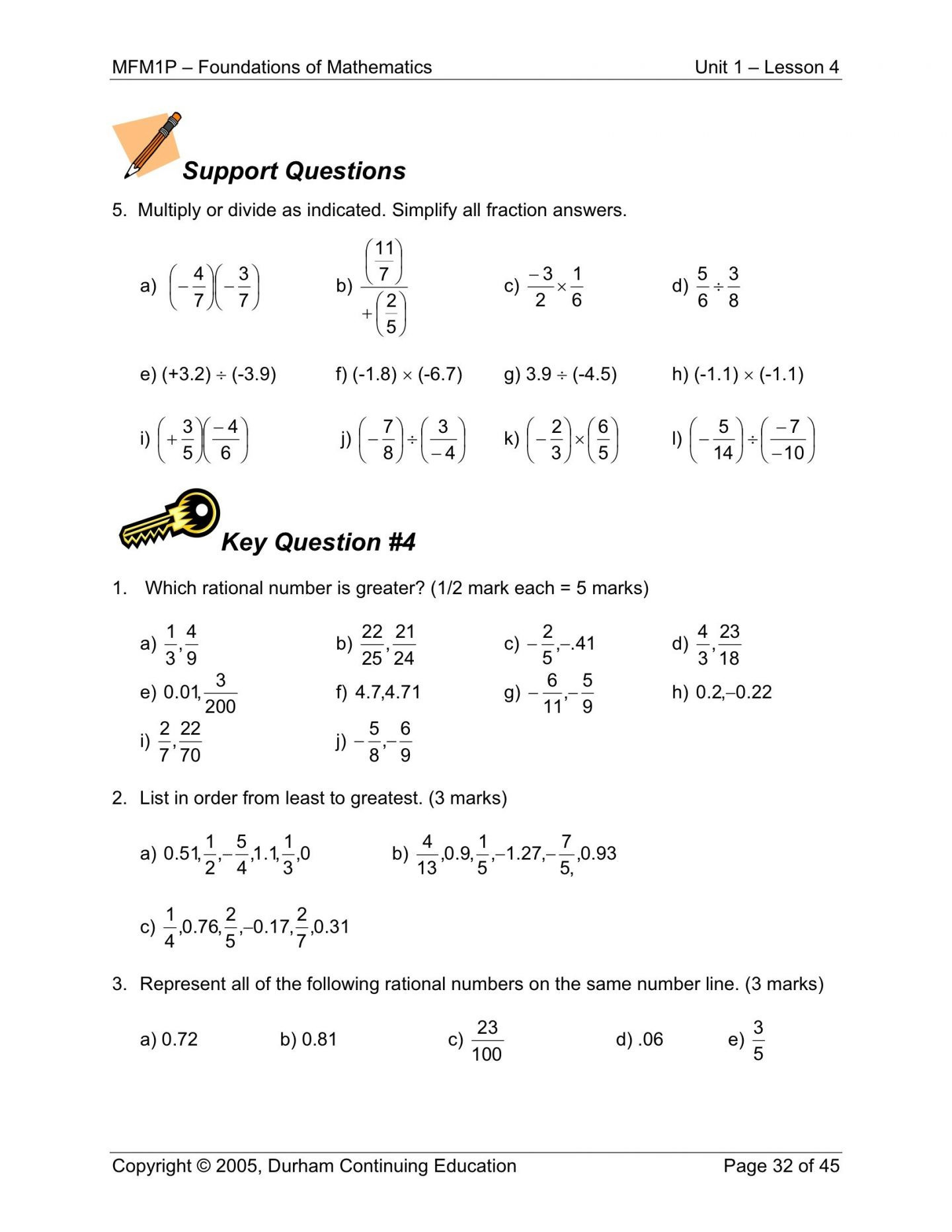 Rational Numbers Worksheet Learning Worksheets Free Math