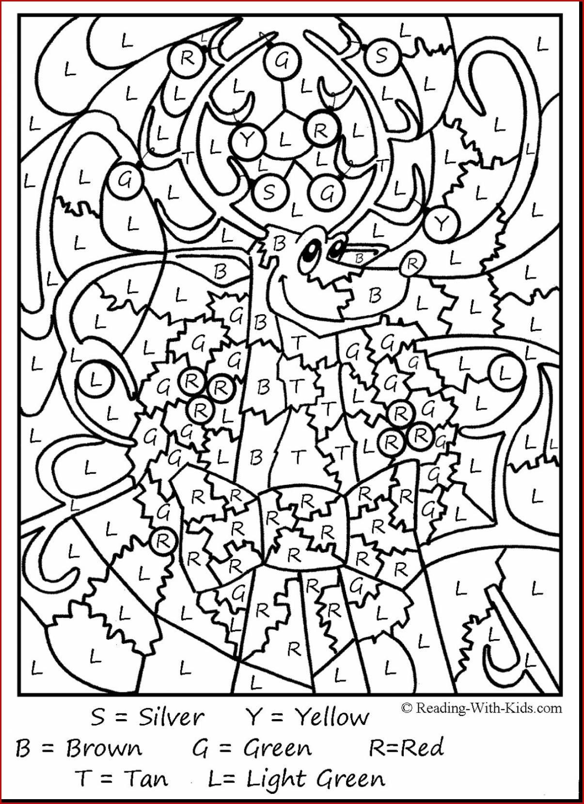 7 Christmas Multiplication Coloring Worksheets in 2020