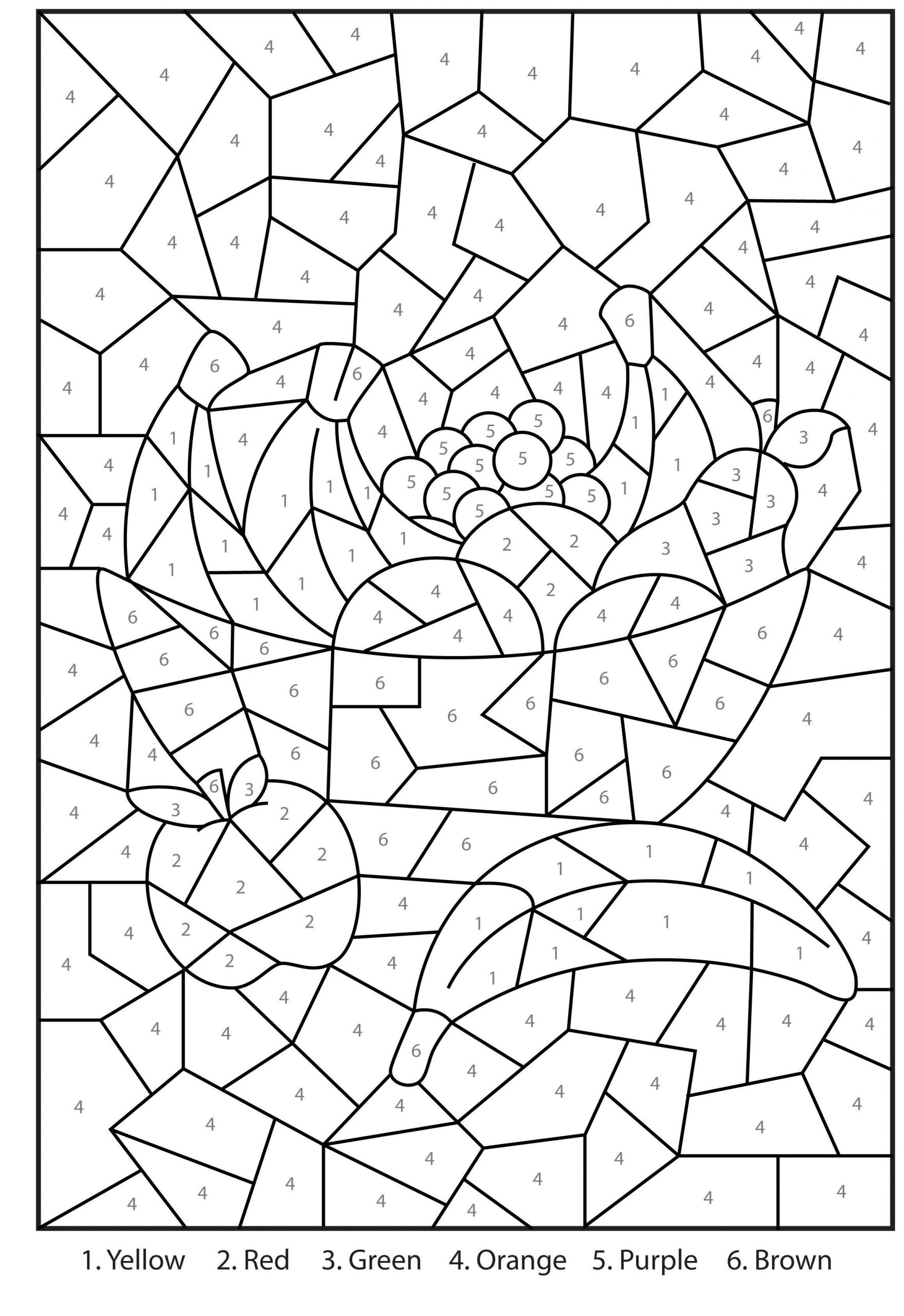 10 free printable color by number division worksheets