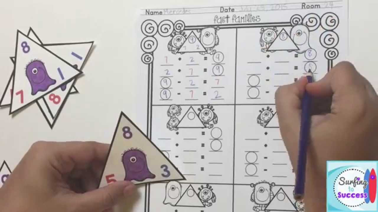 Fact Family Worksheets Multiplication Division