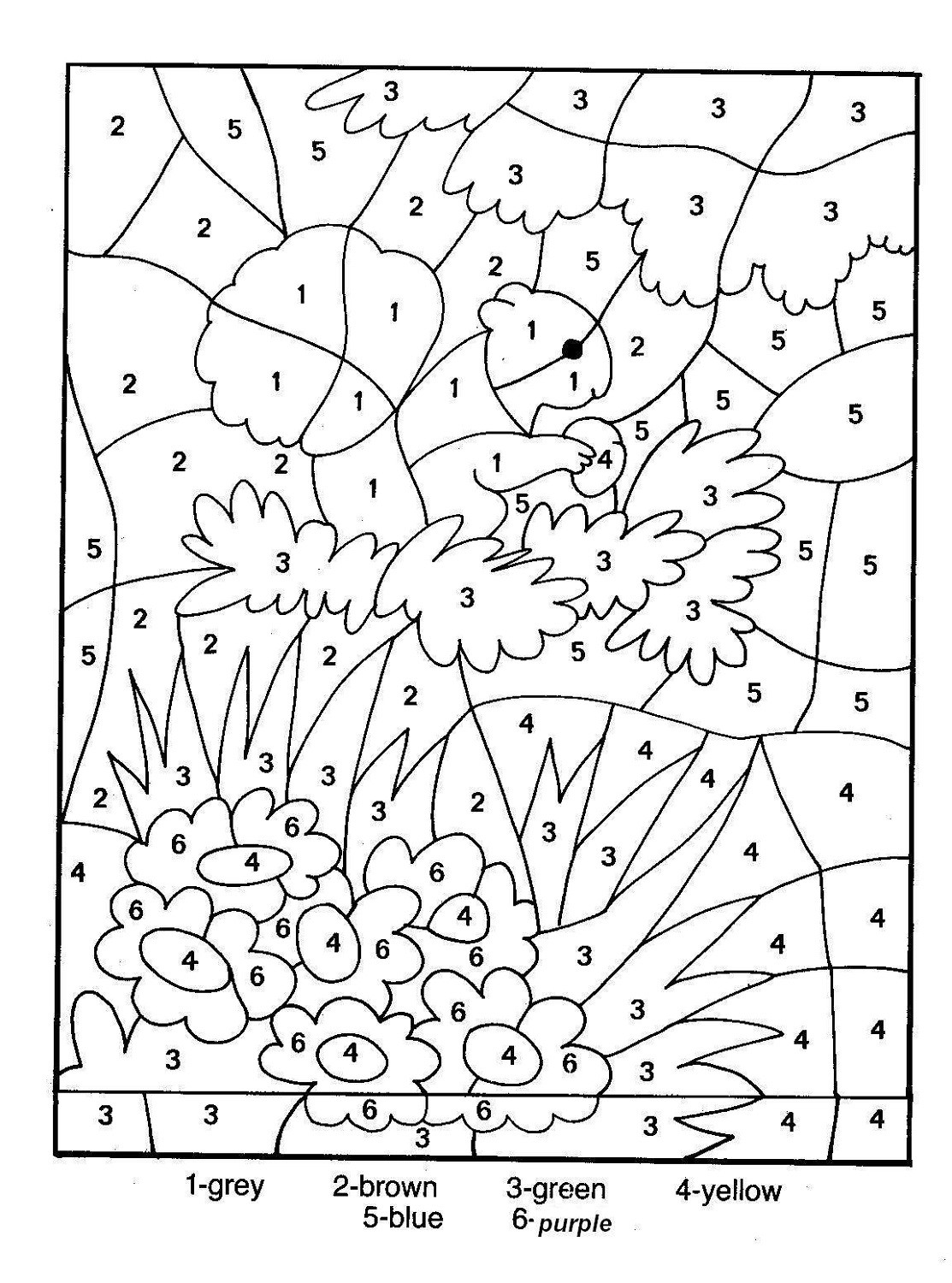 Fall Color by Number Worksheets