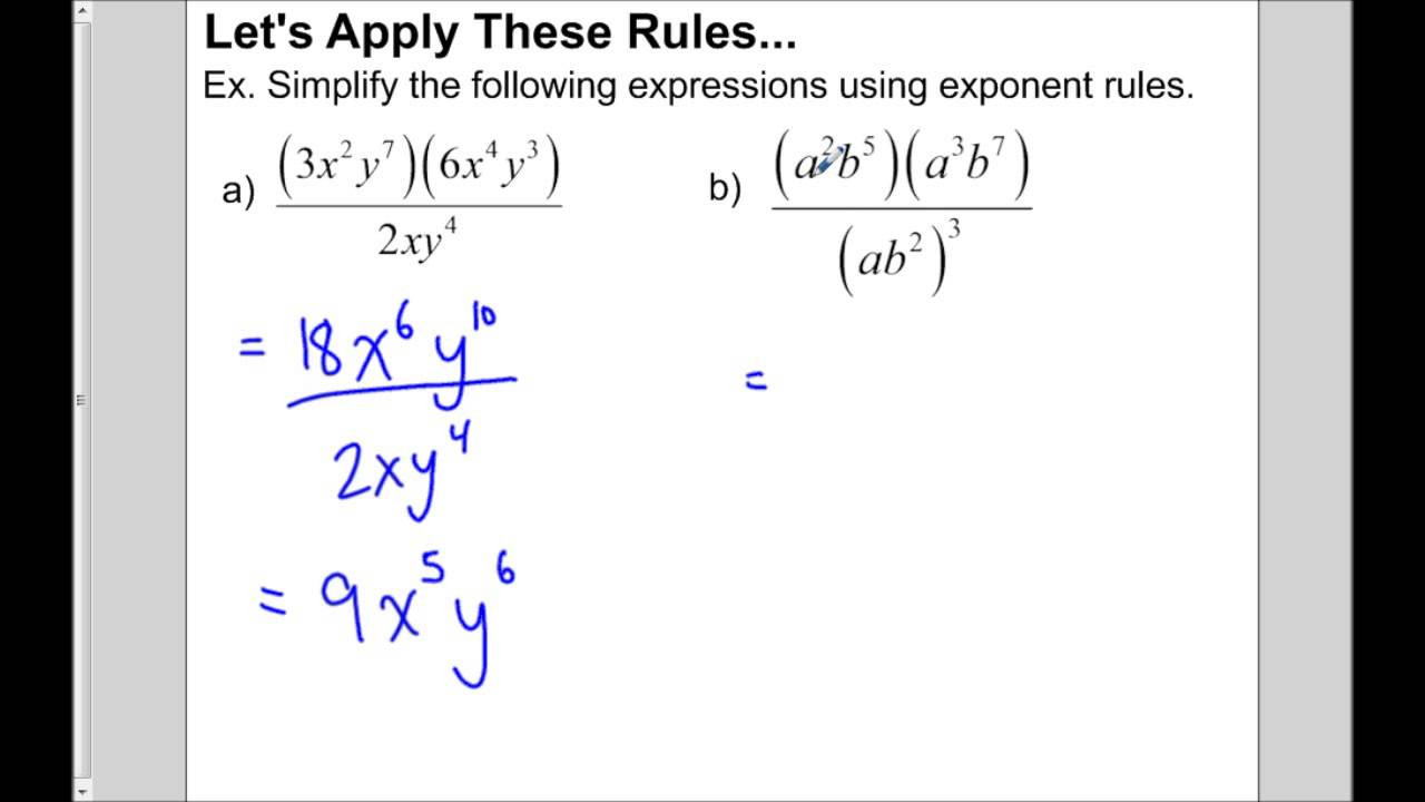Multiply and Divide Exponents Worksheet