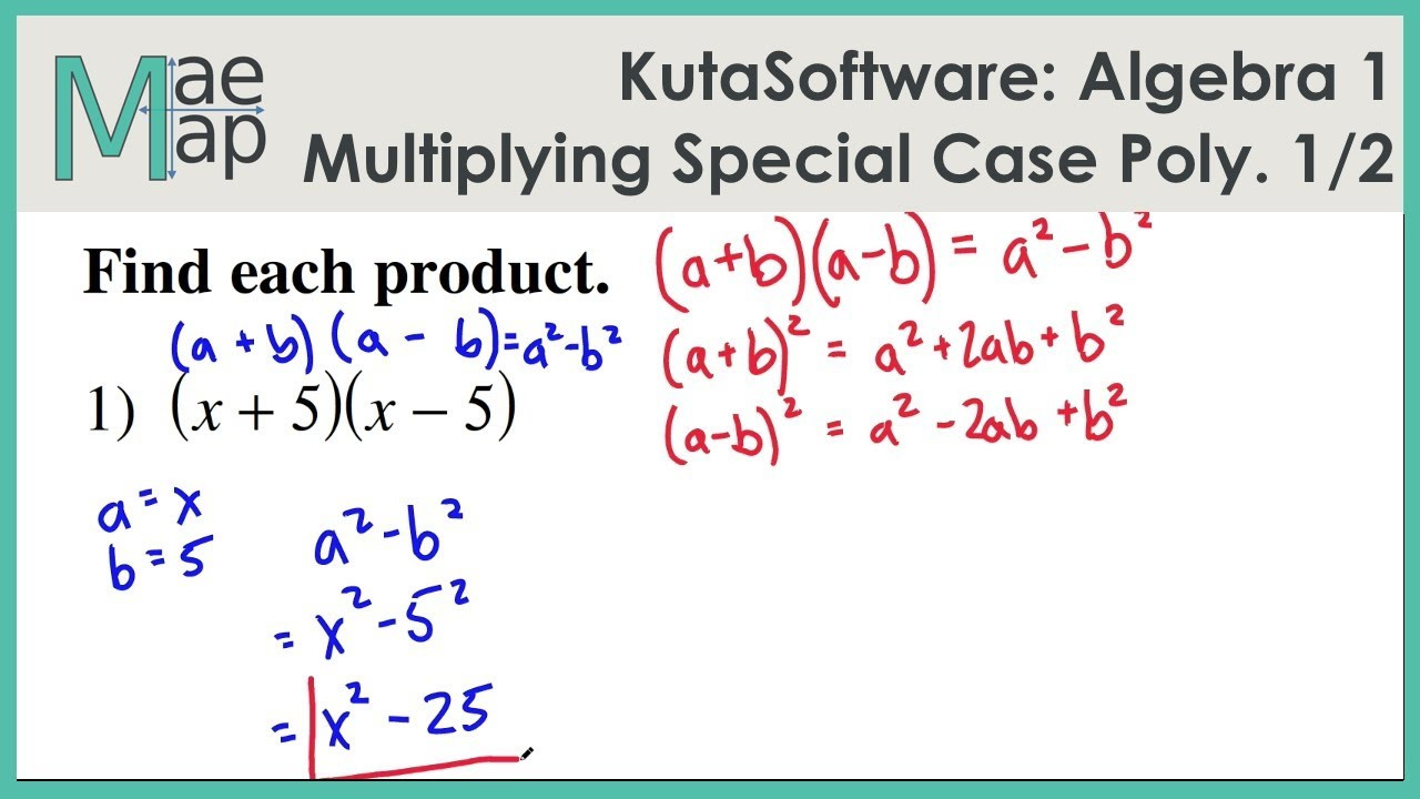 Multiplying and Factoring Polynomials Worksheet