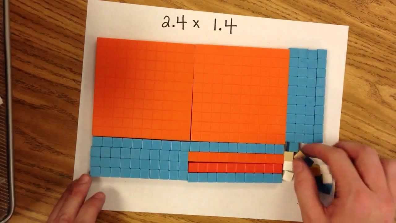 Multiplying Decimals with Grids Worksheets