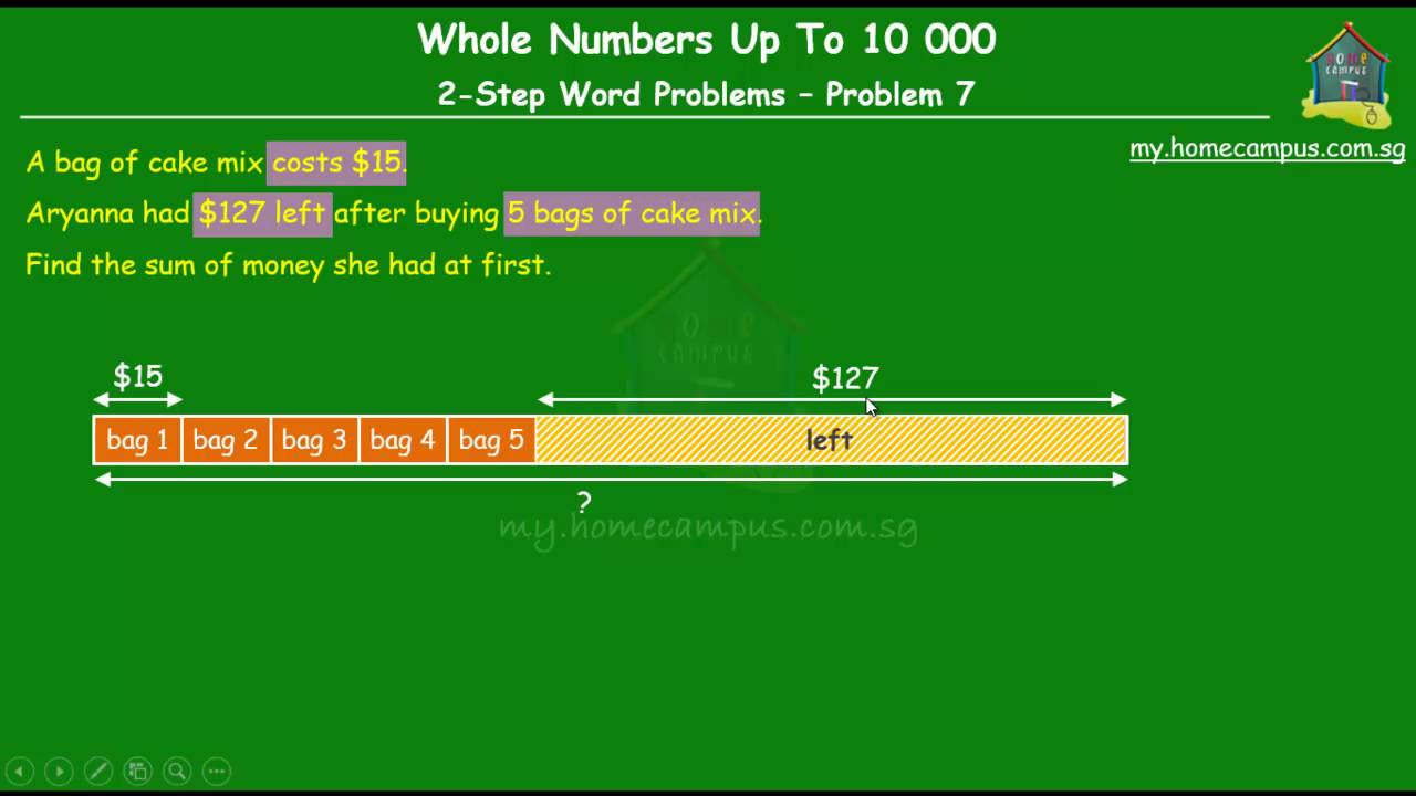 Subtracting whole Numbers Worksheets