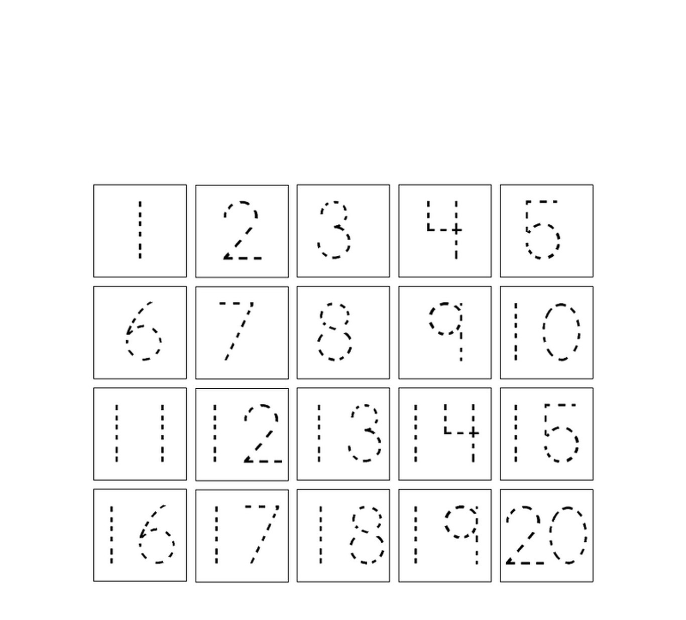 Traceable Numbers 1 10 Worksheets