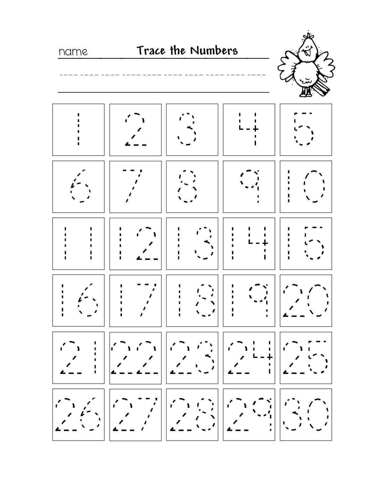 Tracing Numbers 1 100 Worksheets