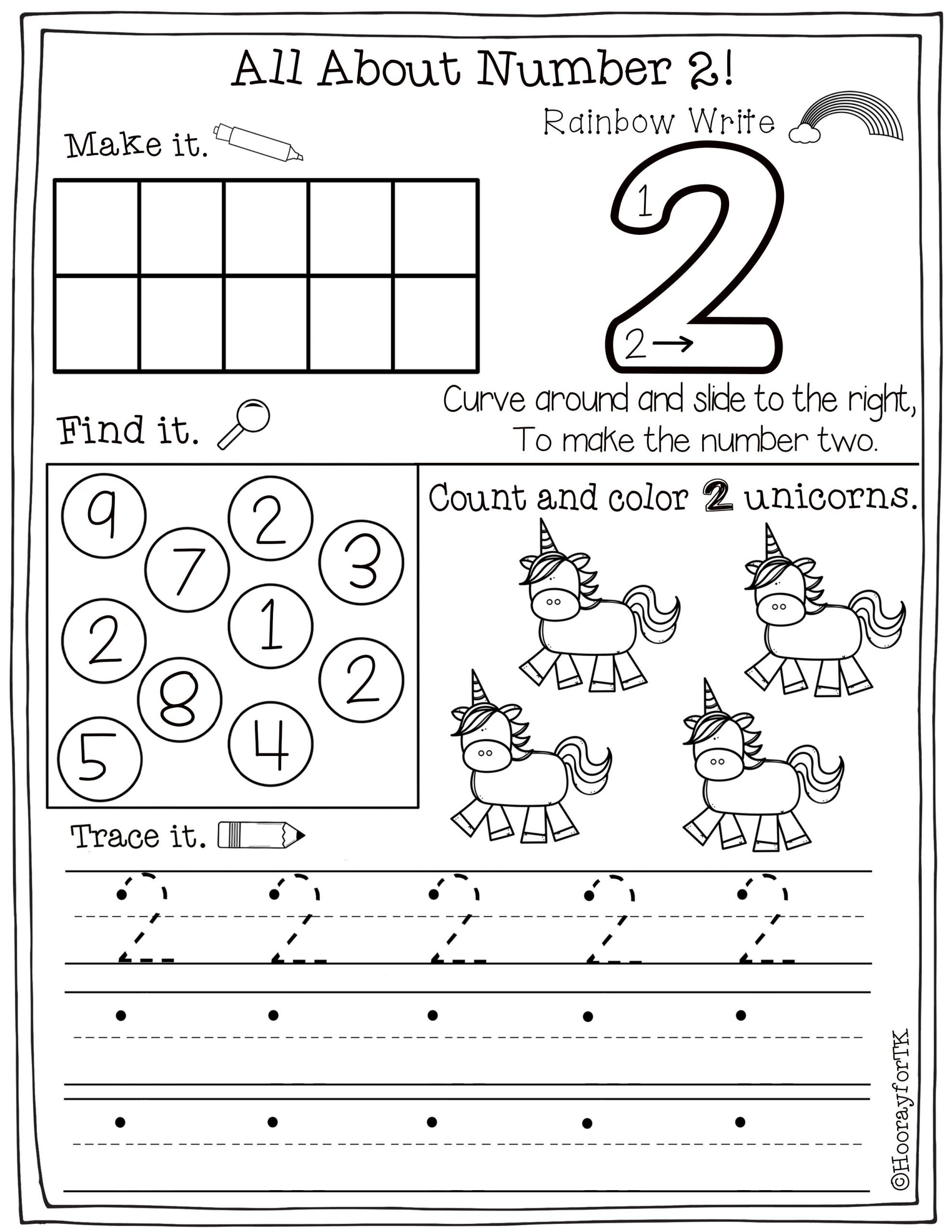 Tracing Numbers Worksheets 1 20