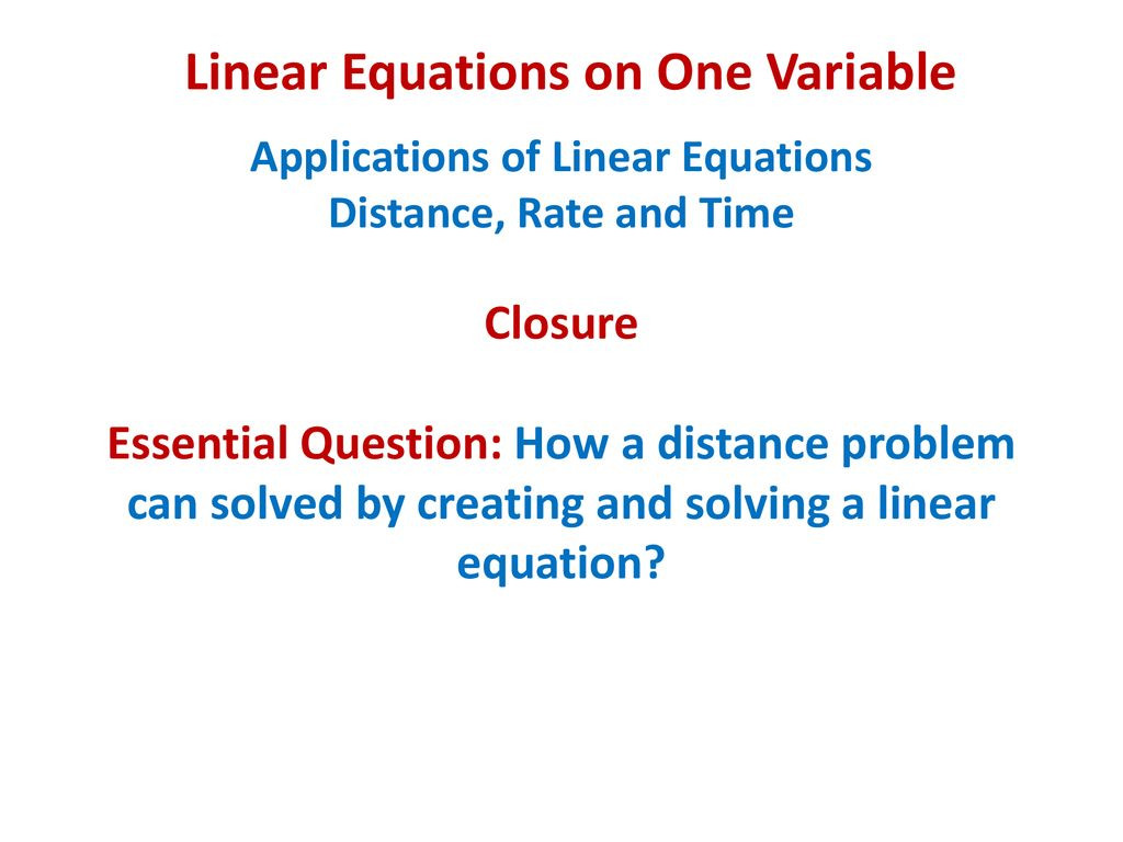 Applications Of Linear Equations Worksheet