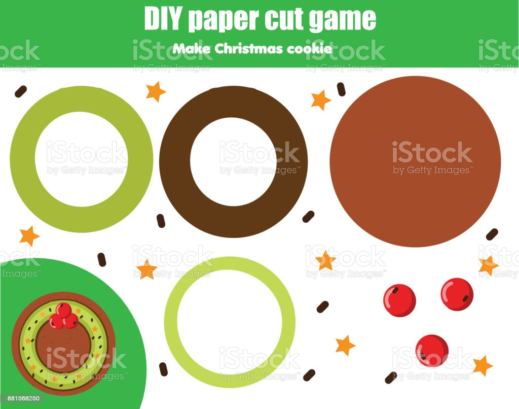 Christmas Cut and Paste Worksheets