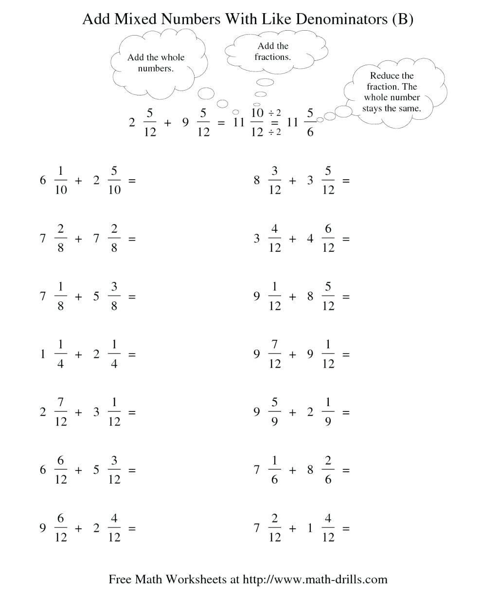 Cooking With Fractions Activity Sheet Adding Worksheets