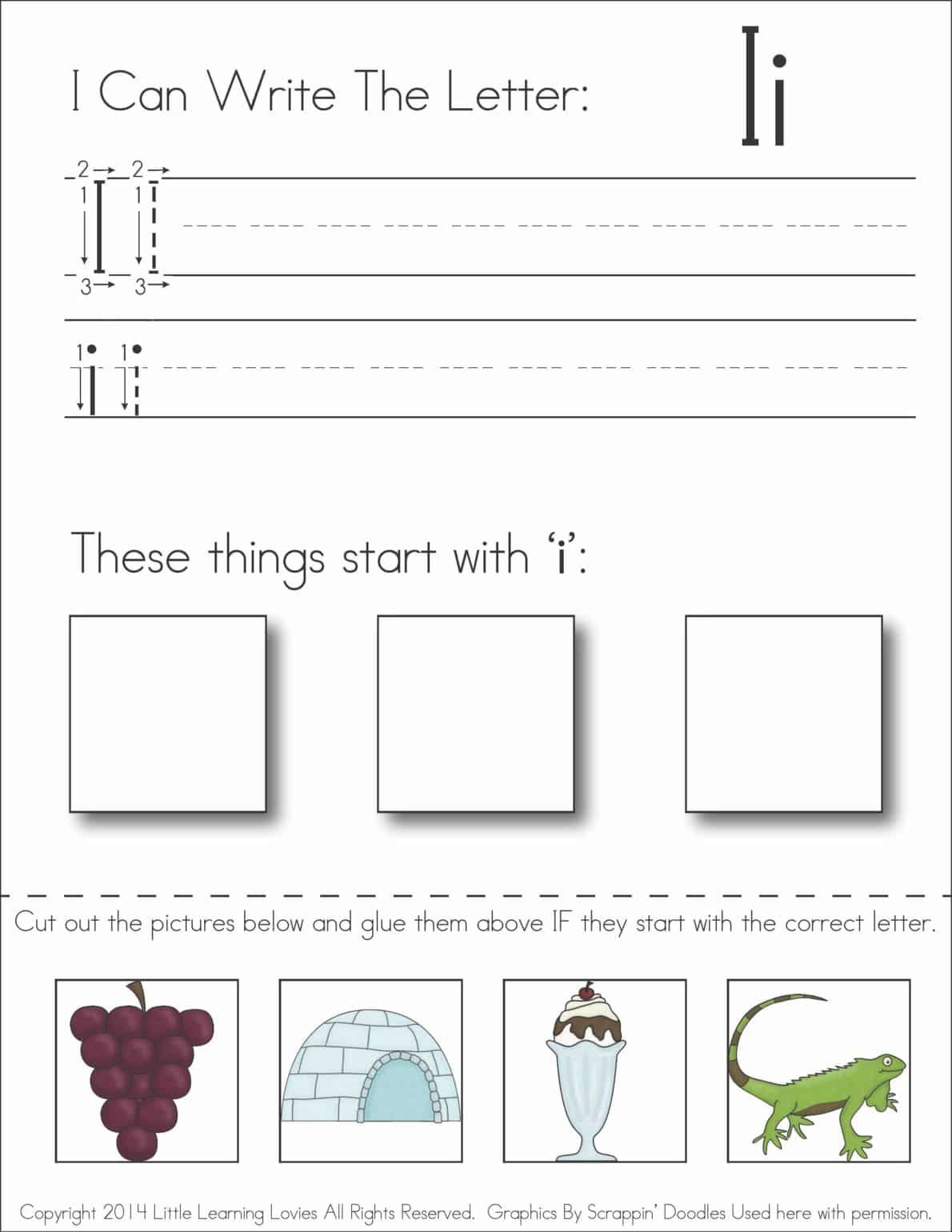 Cut and Paste Letter Worksheets