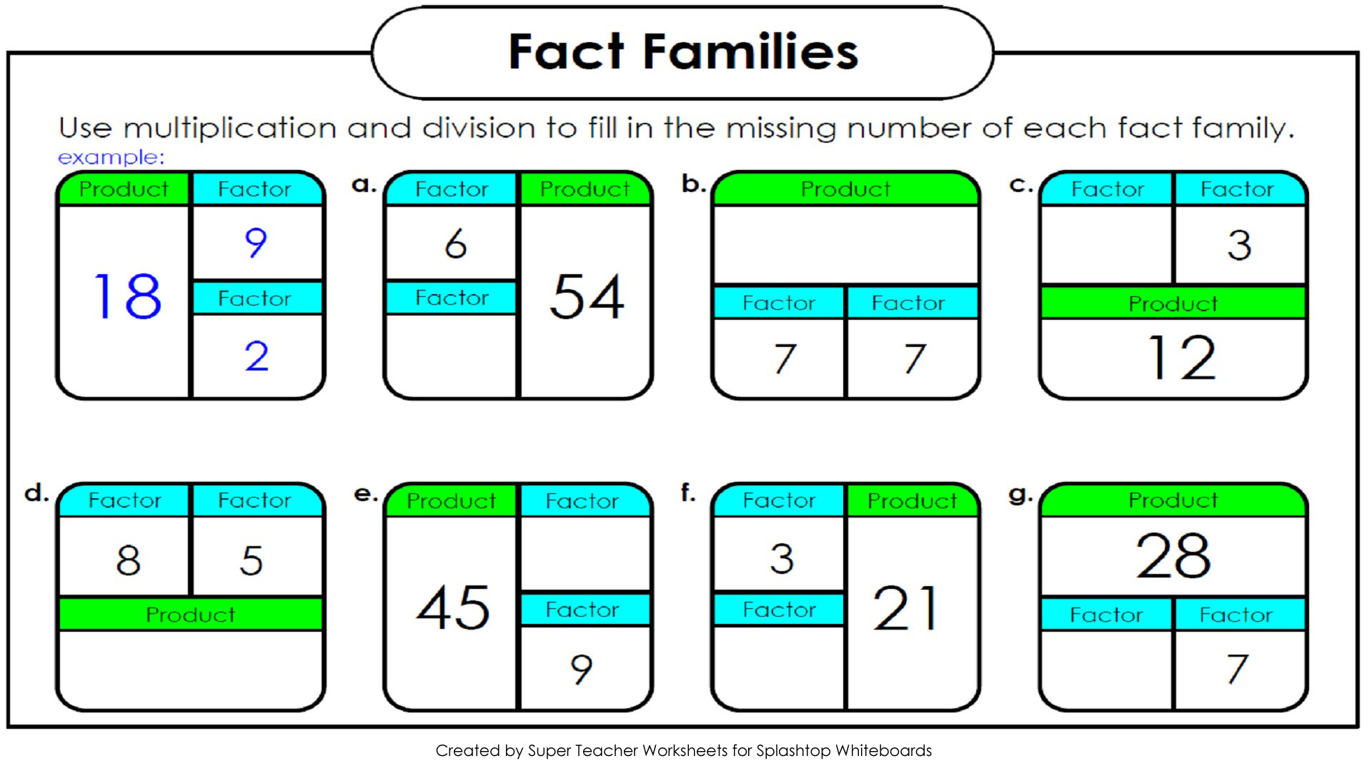 Division Using Arrays Worksheets