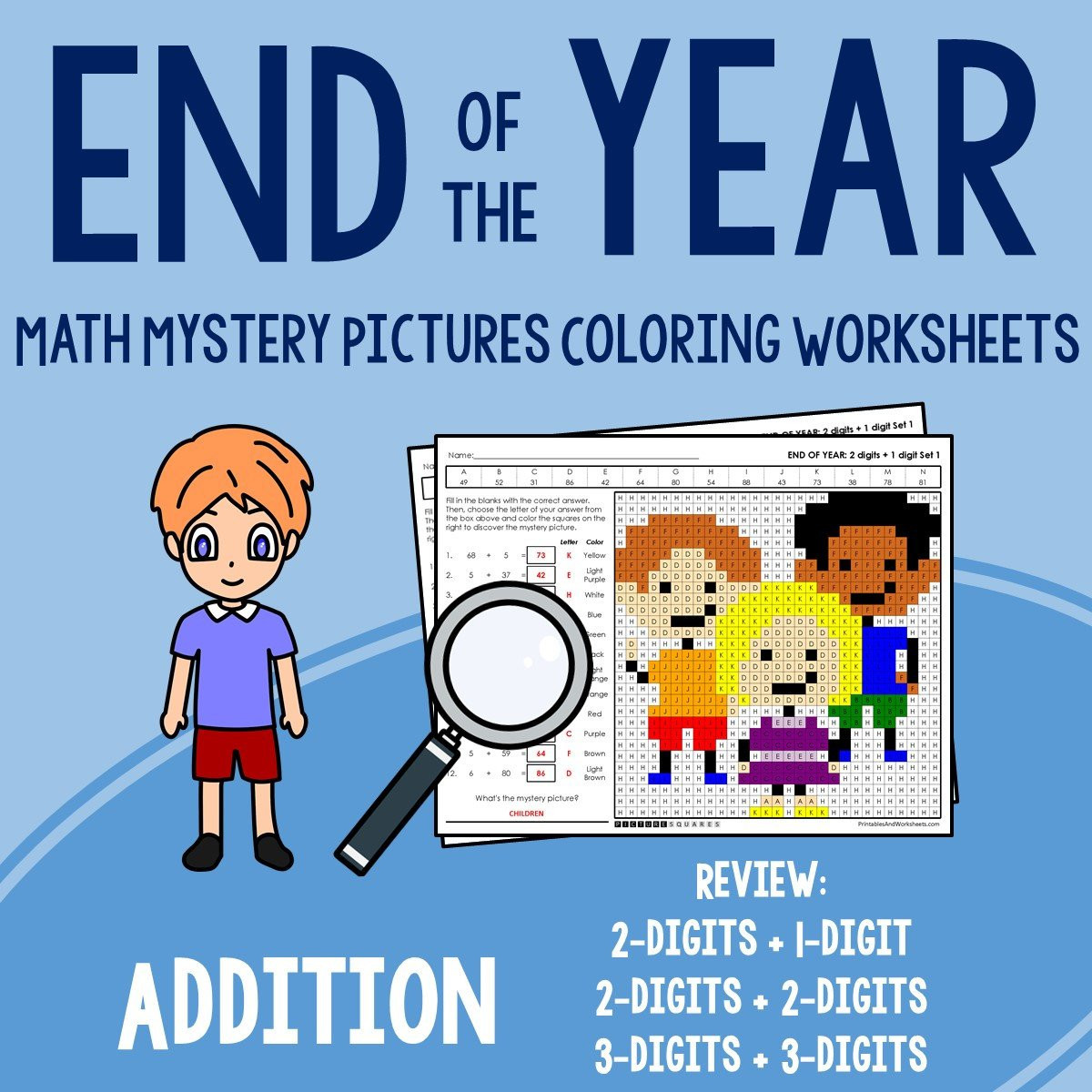 Fun End Of Year Worksheets