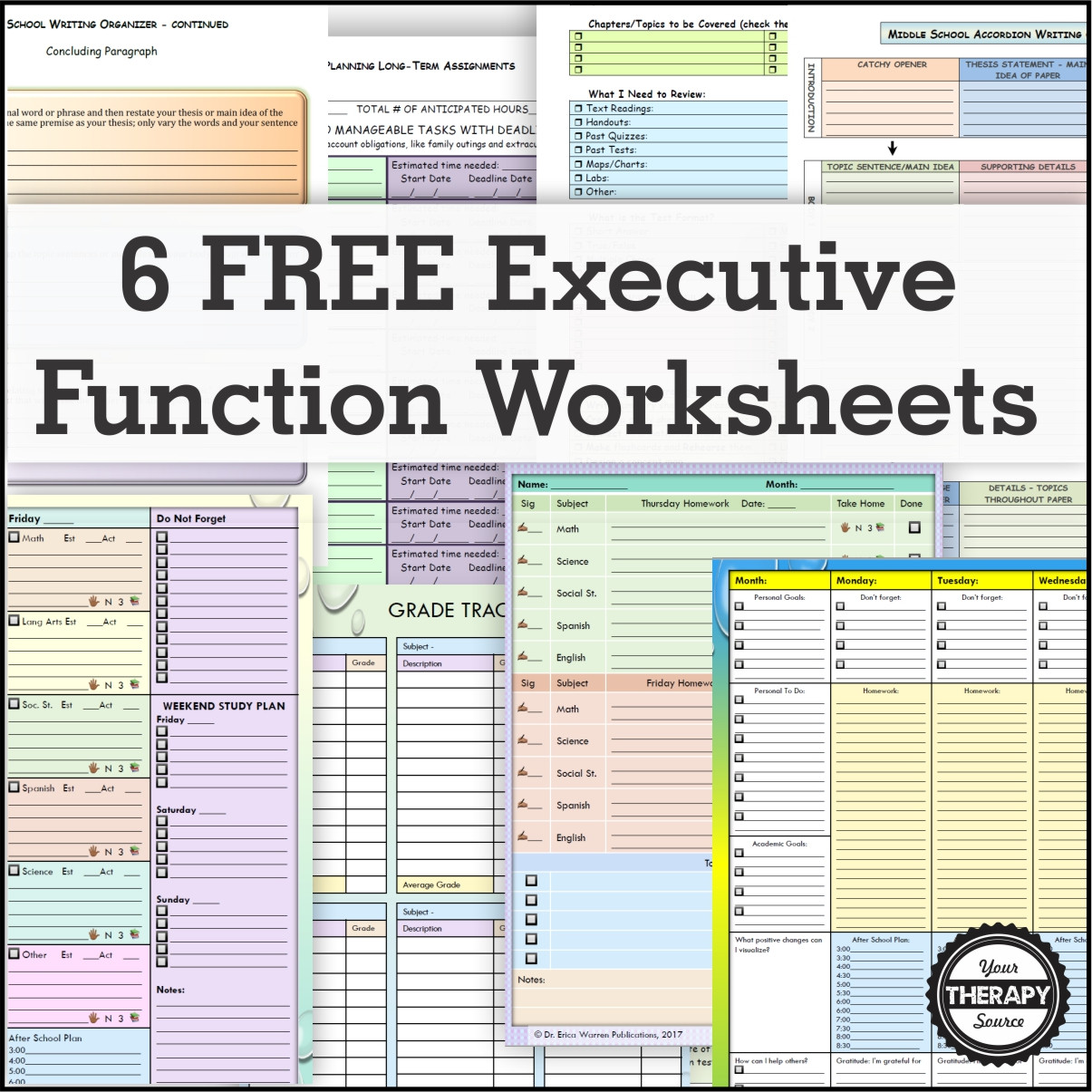 Independent Reading Worksheets Middle School