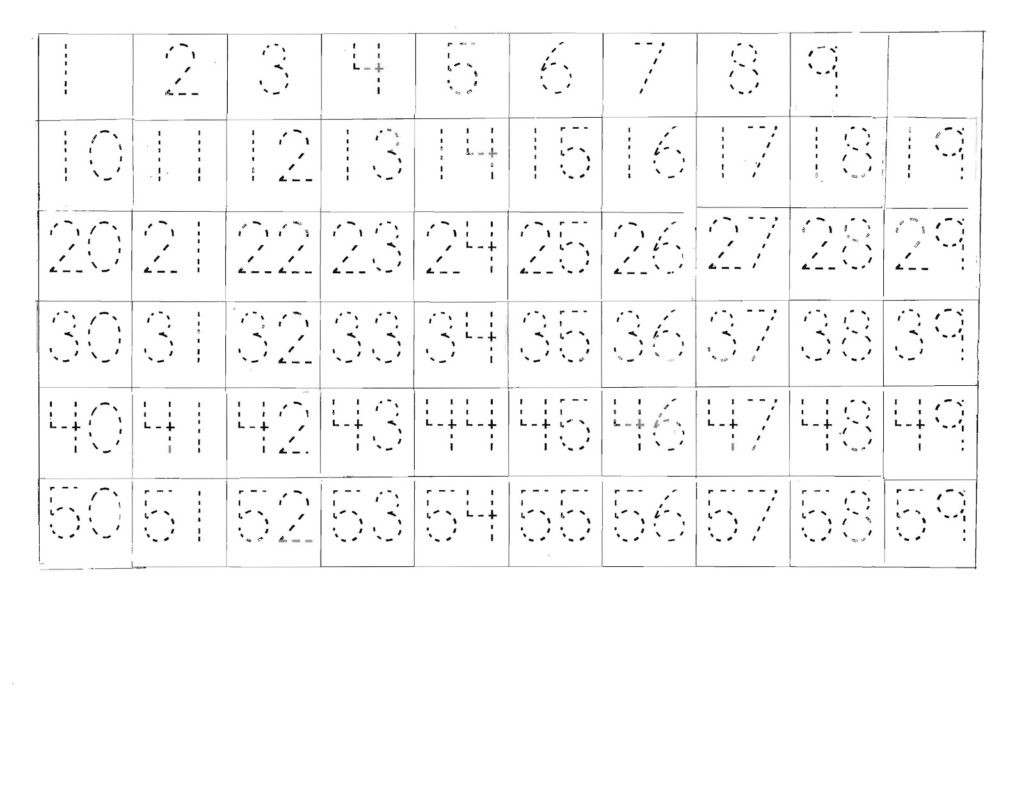 Letter and Number Tracing Worksheets