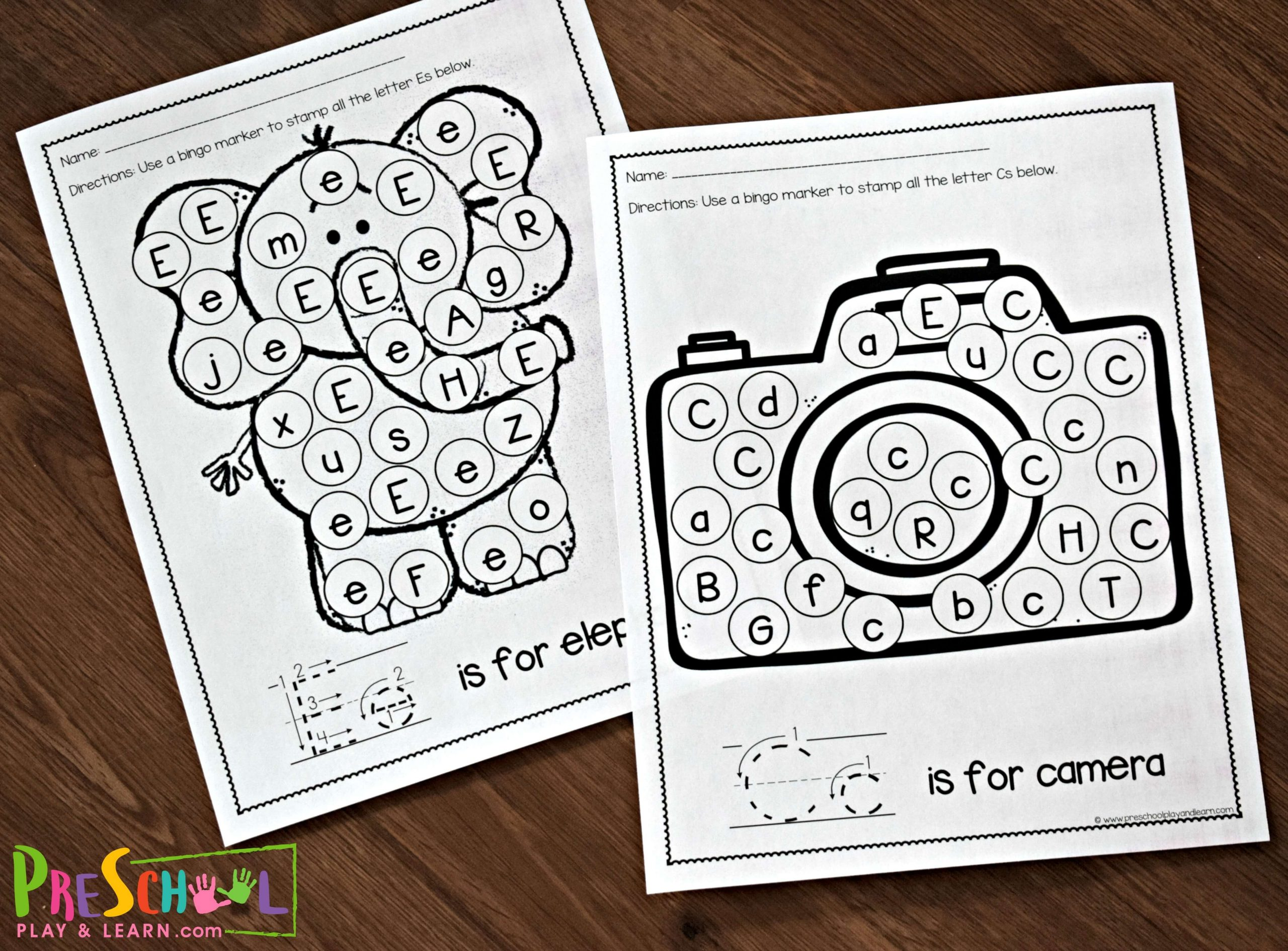 Letter Matching Worksheets Free