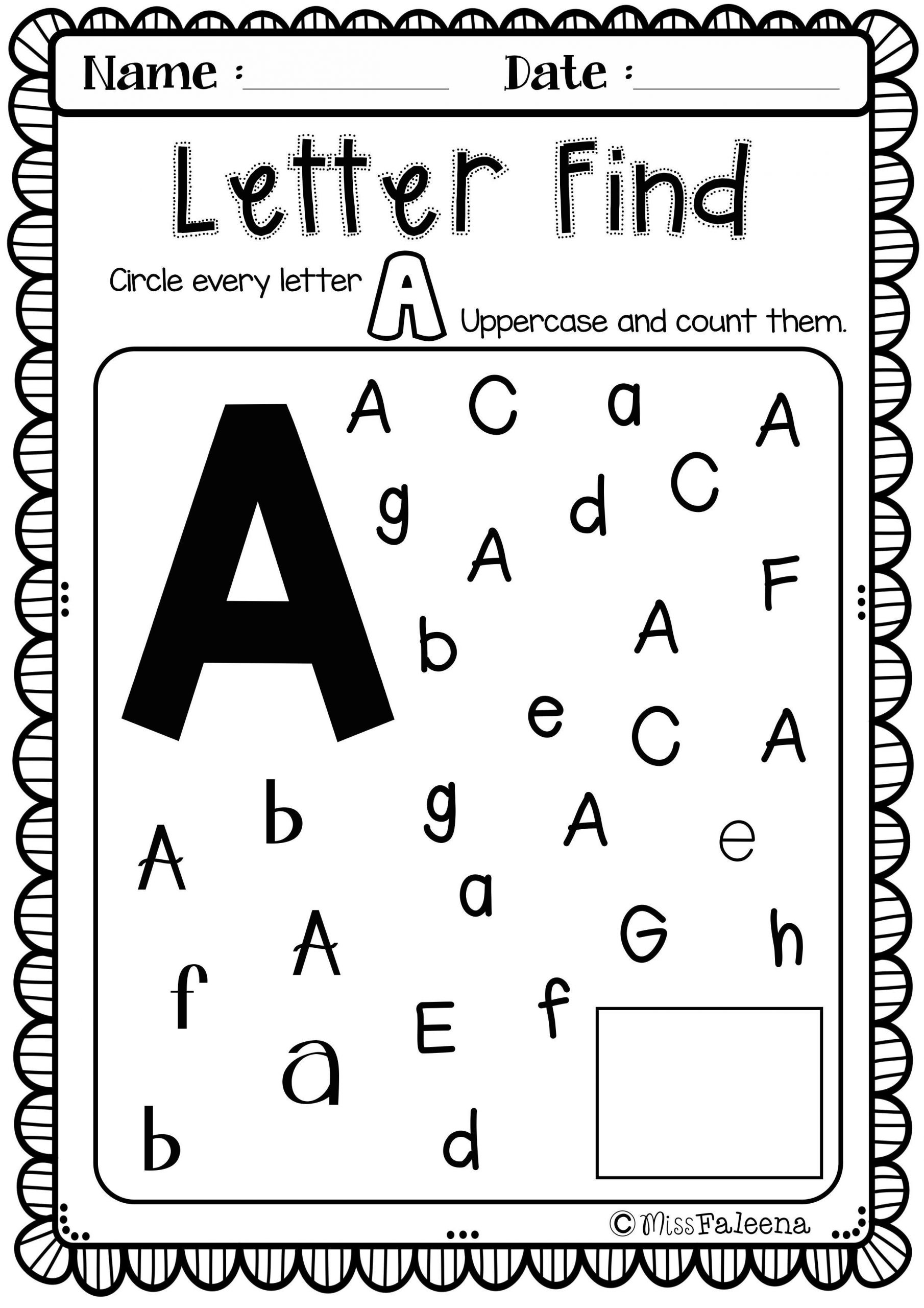 Free Letter of the Week A is designed to help teach letter A