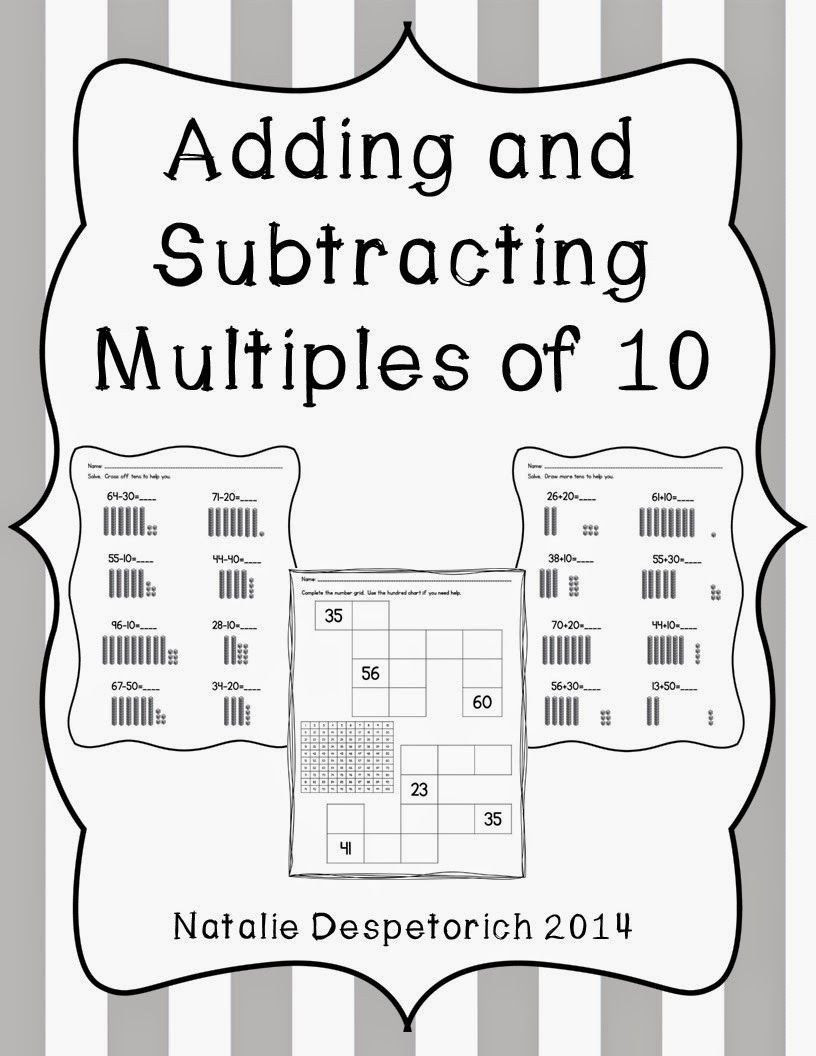Making Groups 10 Worksheets Adding and Subtracting
