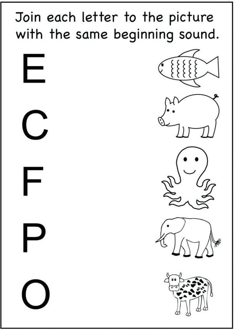 Match the Letters Worksheet