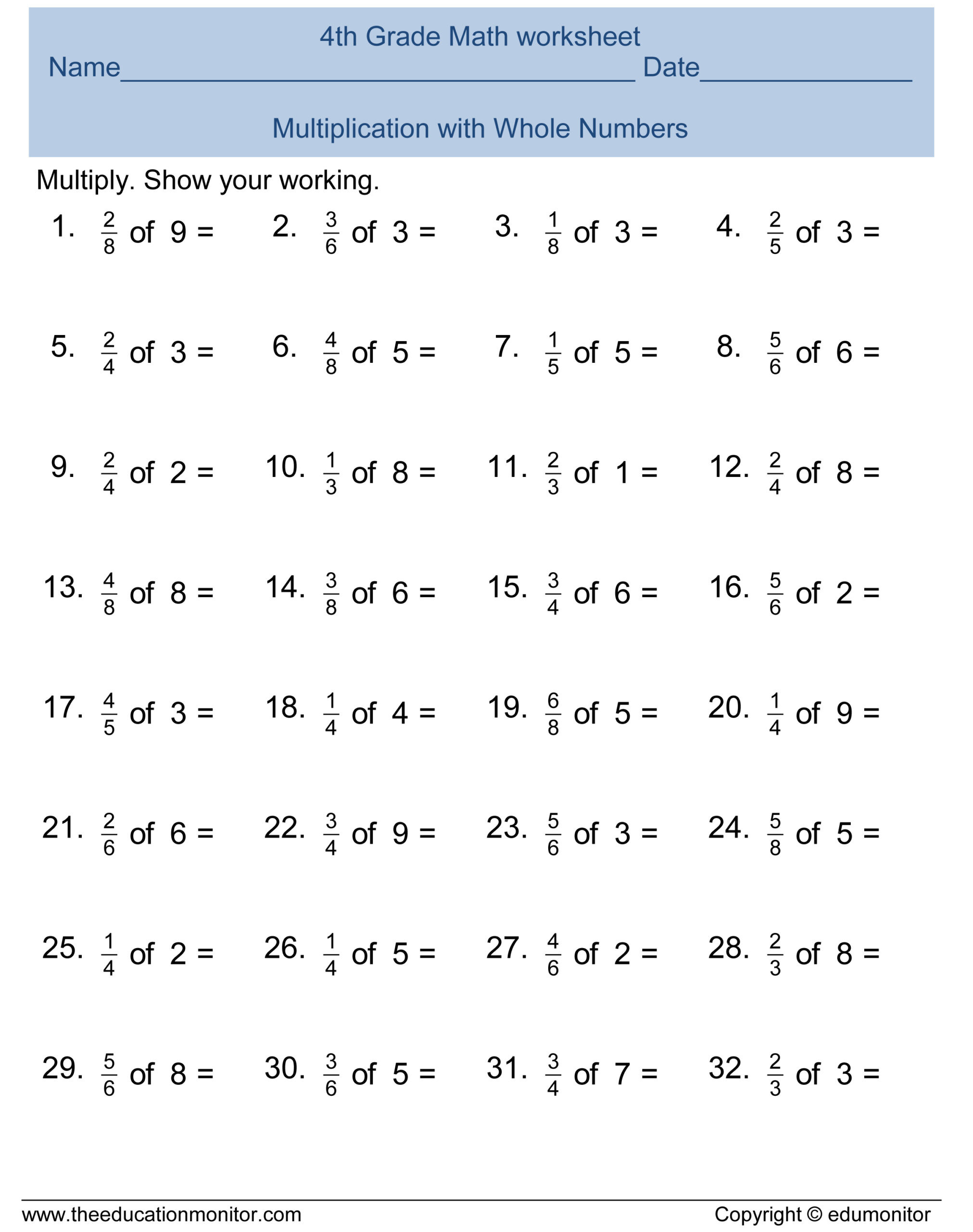 51 4th Grade Fractions Worksheets Image Ideas – Doctorbedancing
