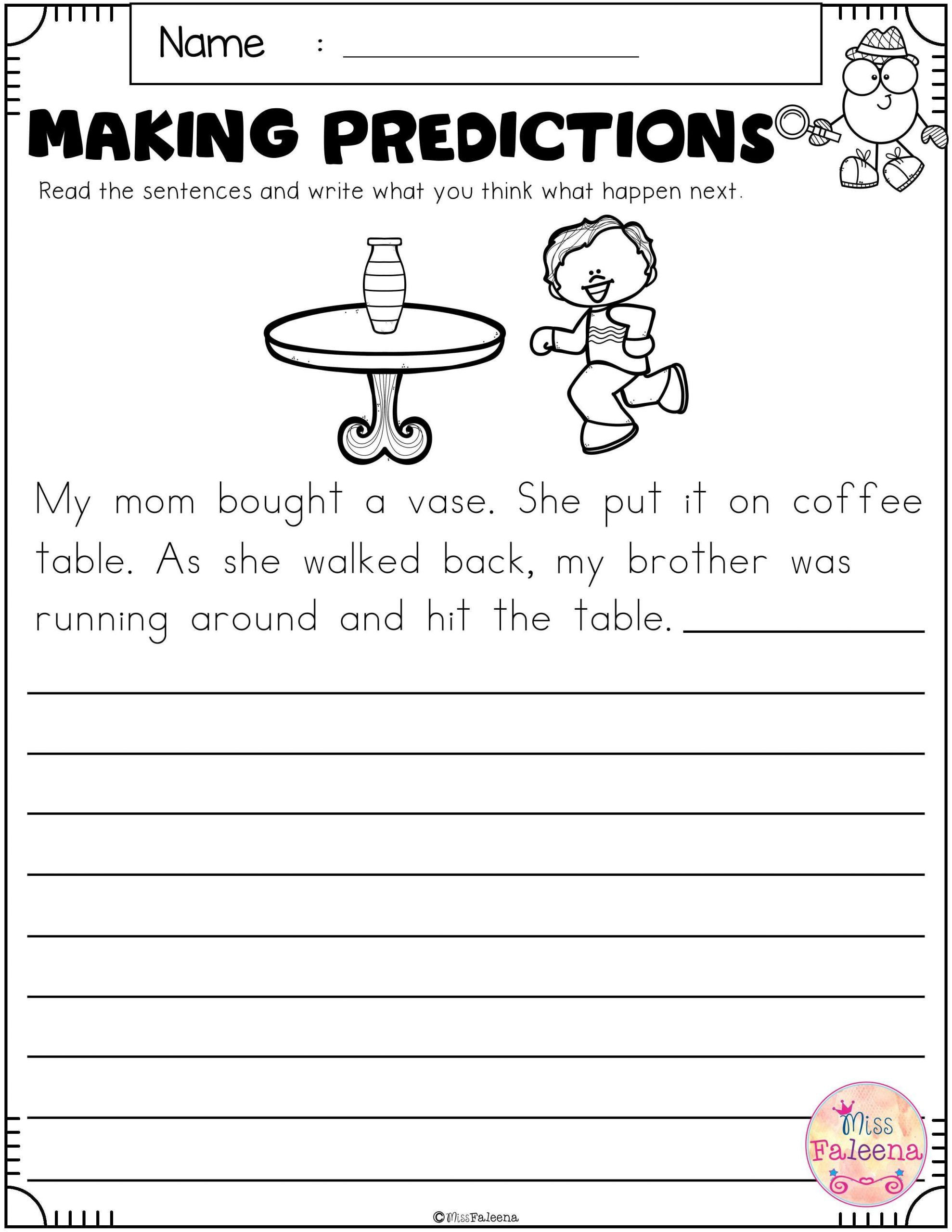 Making Predictions Worksheets 3rd Grade in 2020