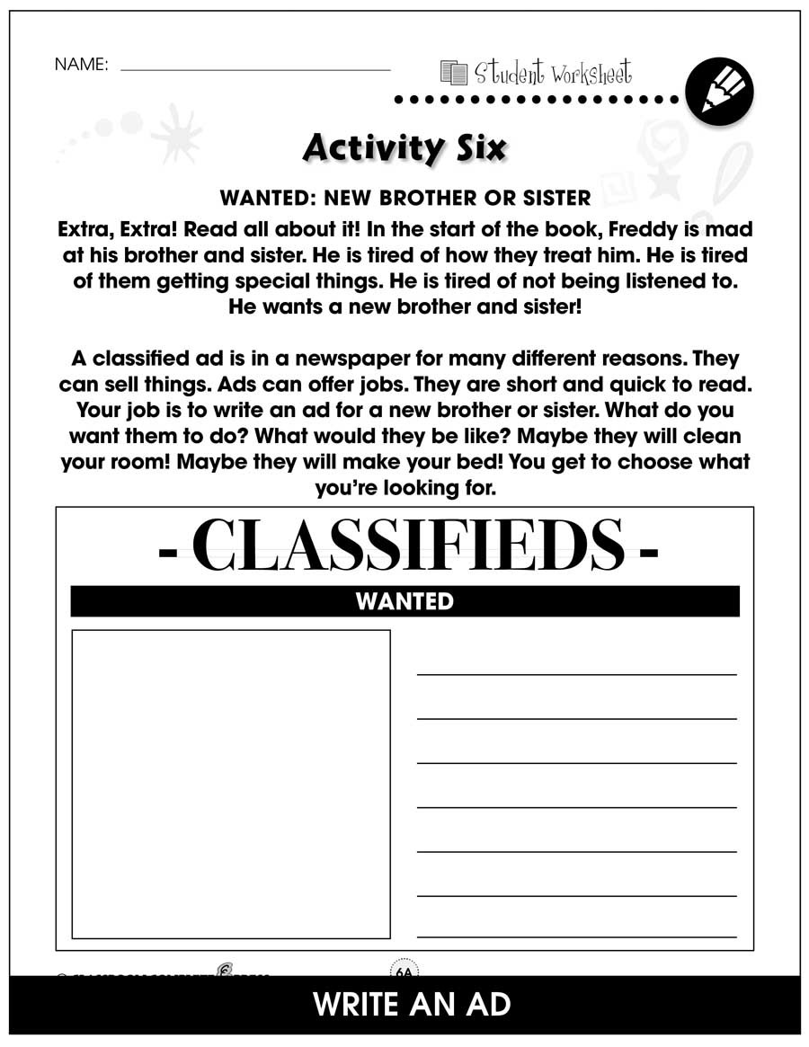 Reading Help Wanted Ads Worksheets