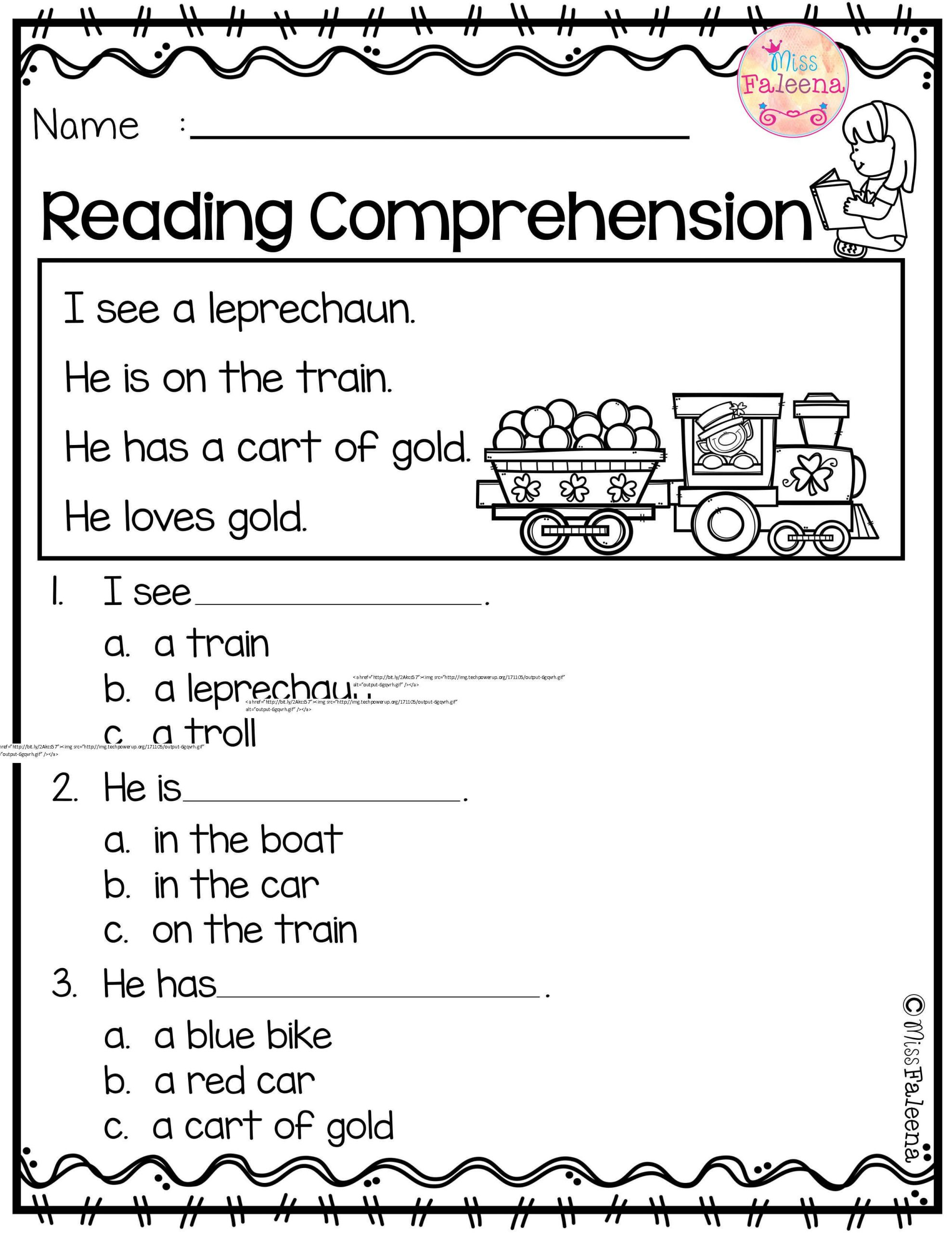 March Reading prehension is suitable for Kindergarten
