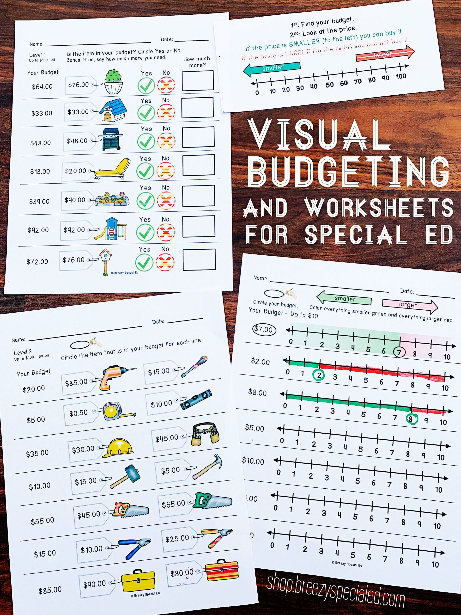 Special Education Math Worksheets