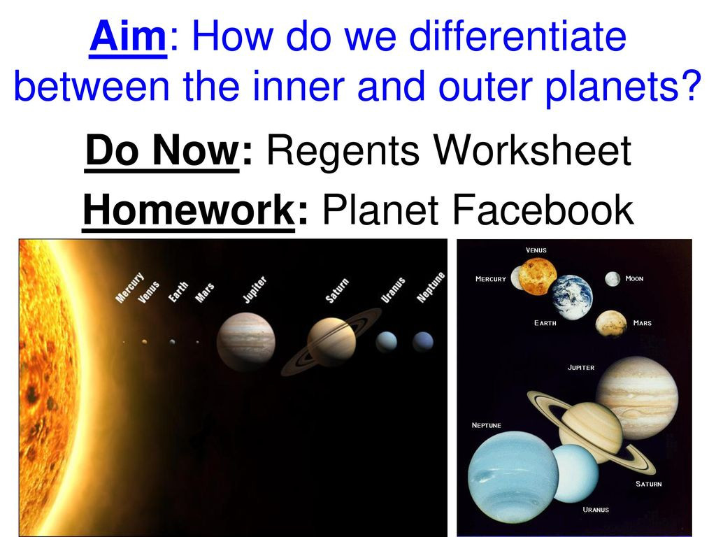 The Outer Planets Worksheet