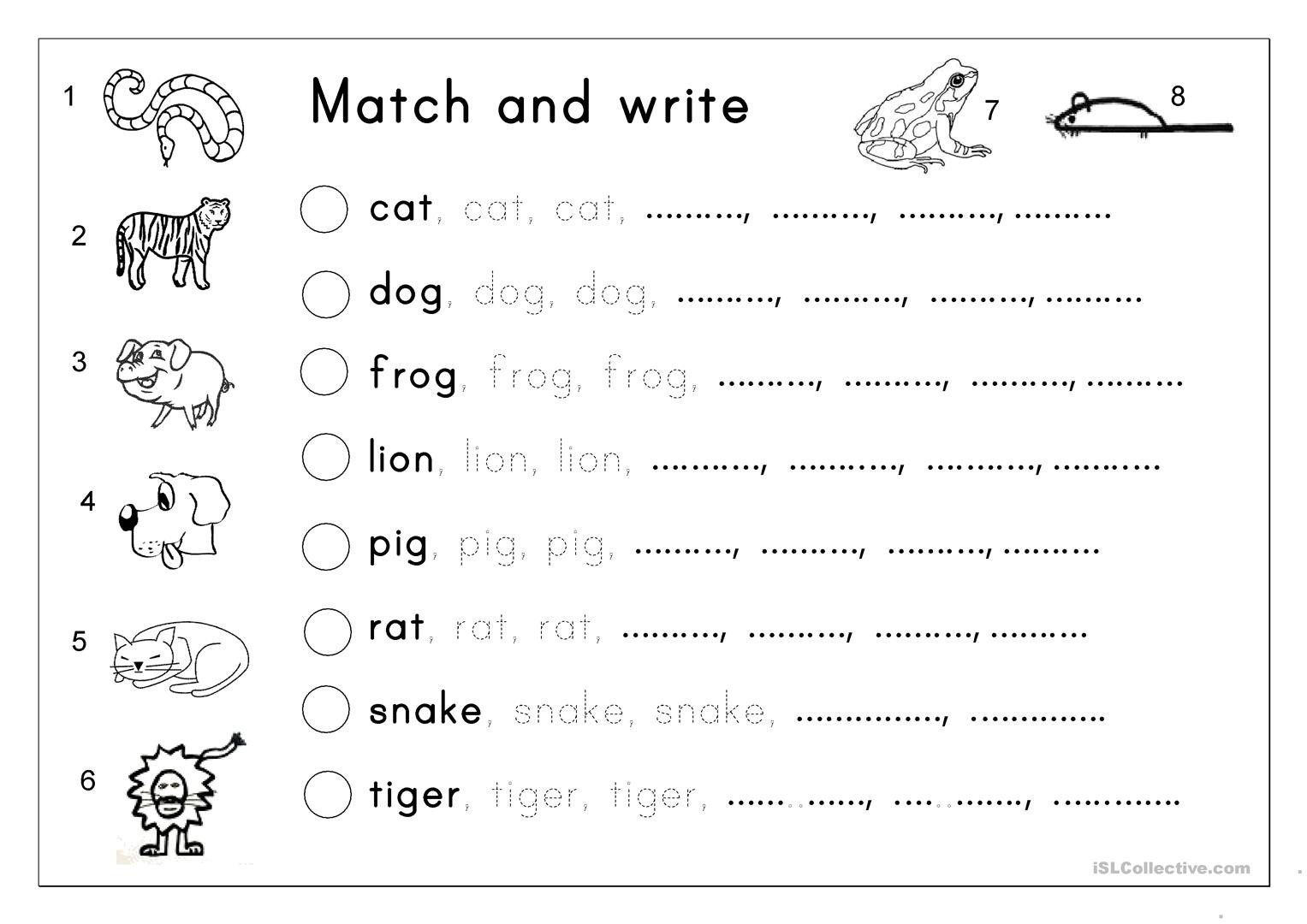 Tracing Letter and Number Worksheet