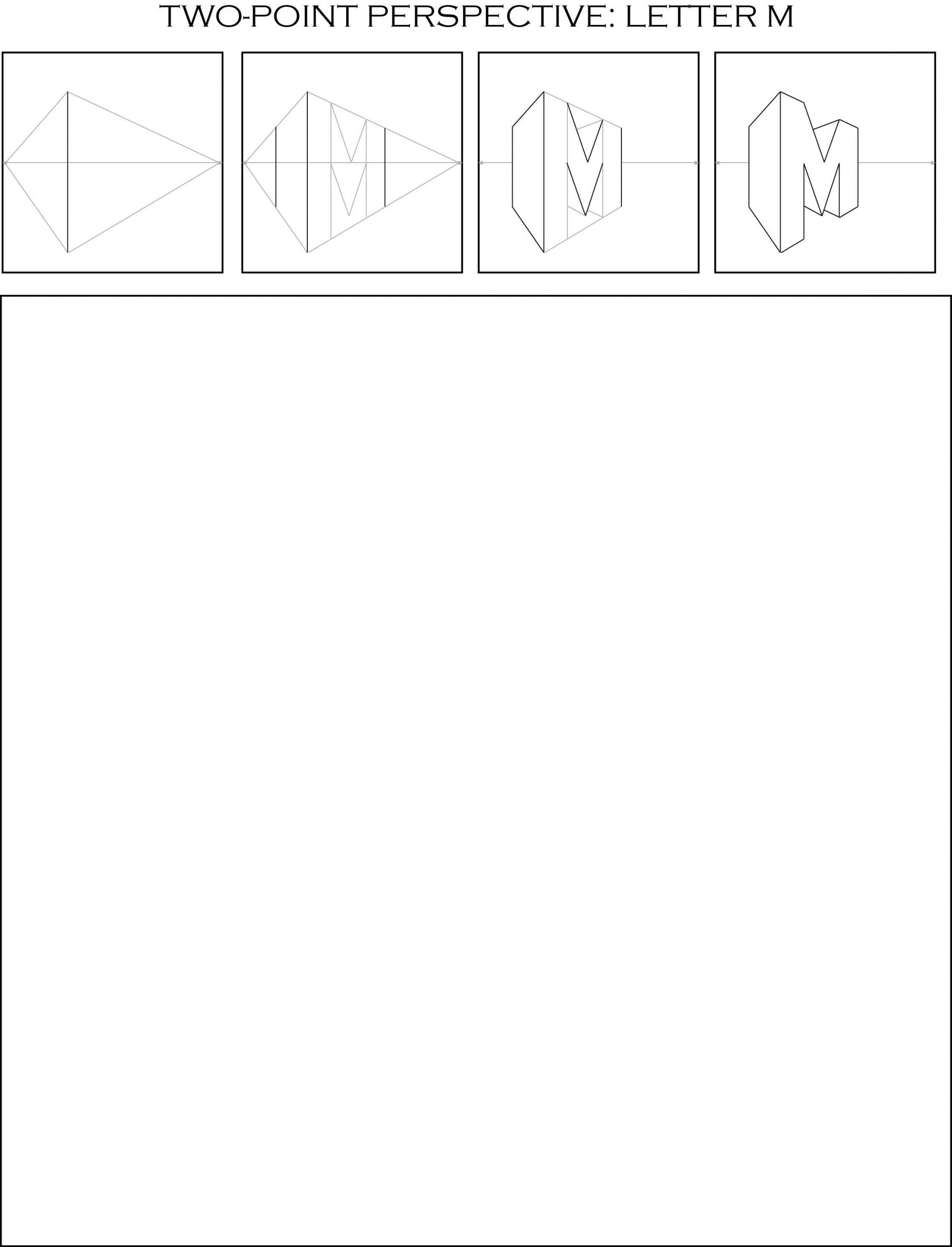 Two Point Perspective Letters Worksheet