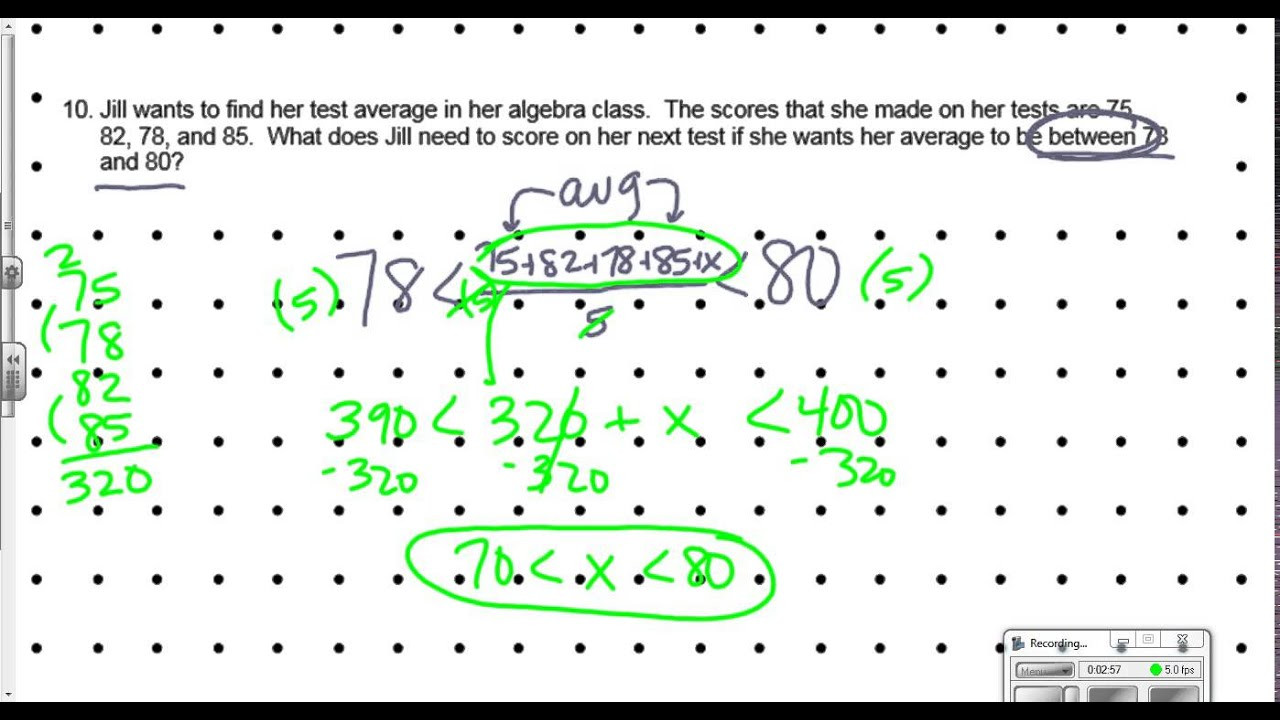 Compound Inequality Word Problems Worksheet