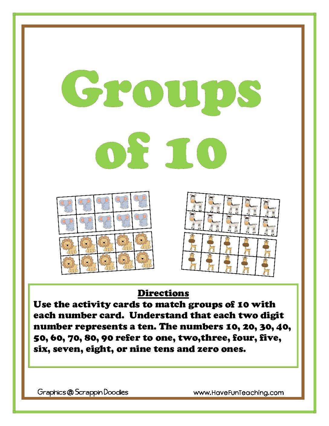 Counting Groups of 10 Activity