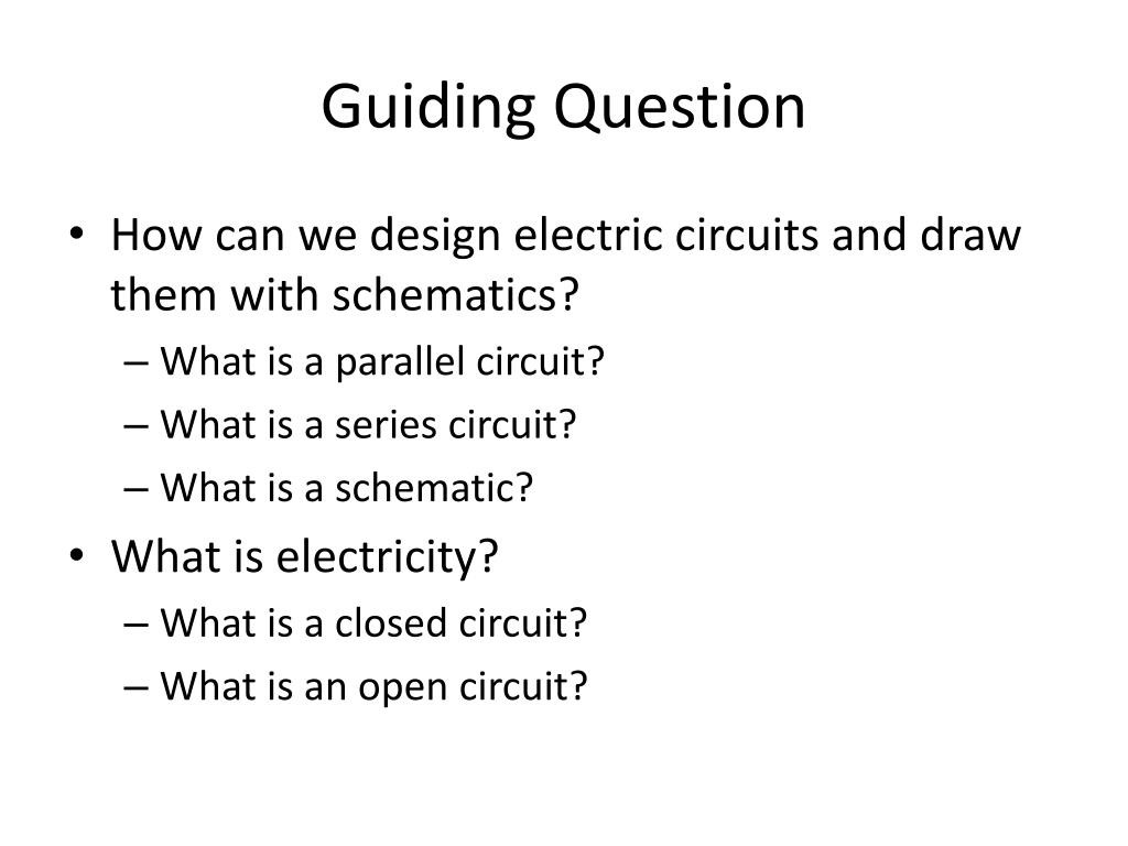 Open and Closed Circuits Worksheet